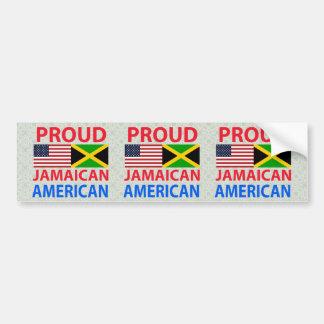 Americano jamaicano orgulloso etiqueta de parachoque