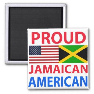 Americano jamaicano orgulloso imán para frigorífico