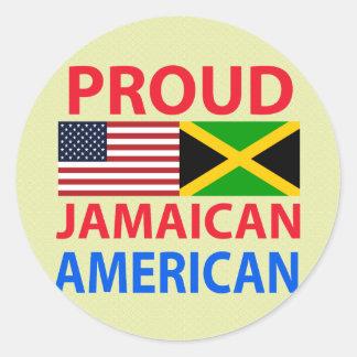 Americano jamaicano orgulloso etiqueta