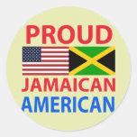 Americano jamaicano orgulloso pegatina redonda