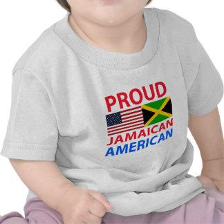 Americano jamaicano orgulloso camisetas