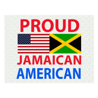 Americano jamaicano orgulloso postal