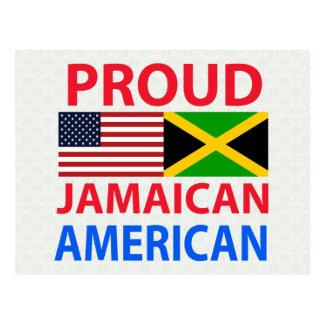 Americano jamaicano orgulloso tarjetas postales