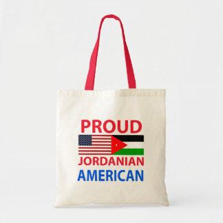 Americano jordano orgulloso bolsas lienzo