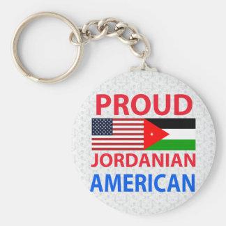 Americano jordano orgulloso llavero redondo tipo pin