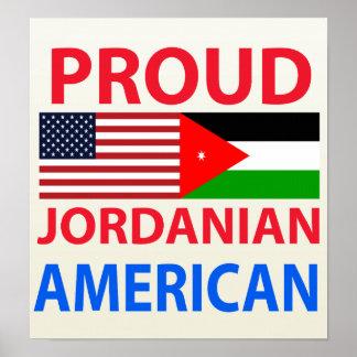 Americano jordano orgulloso póster
