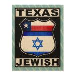 Americano judío de Tejas Impresiones En Madera