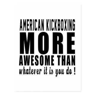 Americano kickboxing más impresionante que lo que postal