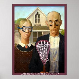 Americano LaCrosse gótico Póster