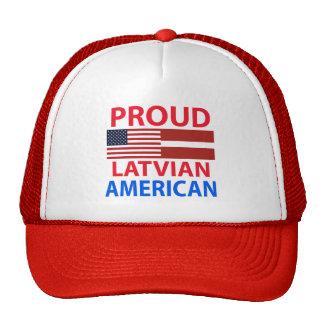 Americano letón orgulloso gorro