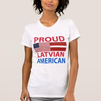 Americano letón orgulloso playera