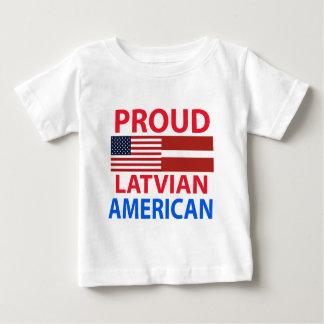 Americano letón orgulloso playera de bebé