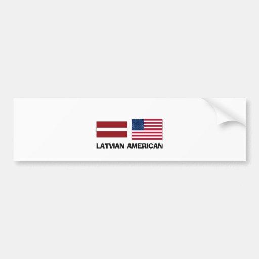 Americano letón pegatina para auto