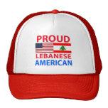 Americano libanés orgulloso gorras de camionero