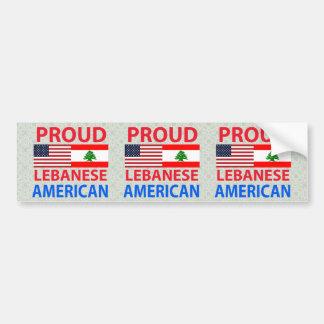 Americano libanés orgulloso pegatina para auto