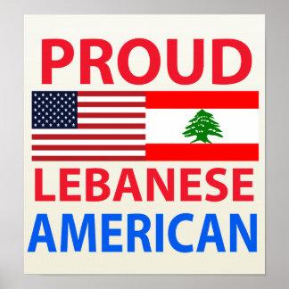 Americano libanés orgulloso póster