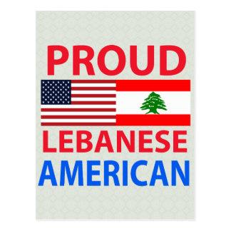 Americano libanés orgulloso postales