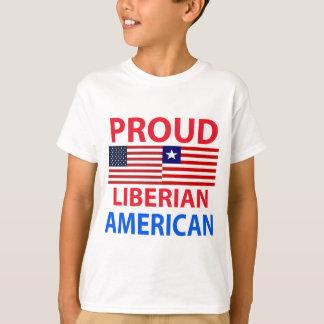 Americano liberiano orgulloso playera