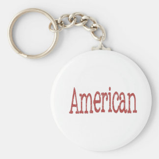 Americano Llavero Redondo Tipo Pin