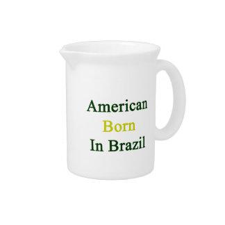 Americano llevado en el Brasil Jarra De Beber