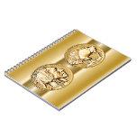 ~ americano los E.E.U.U. de la moneda de oro de la Libros De Apuntes