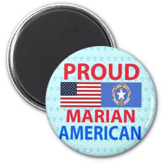 Americano mariano orgulloso imán de nevera