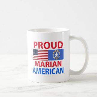 Americano mariano orgulloso tazas de café