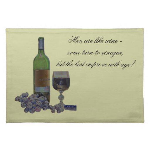 Americano moderno chistoso MoJo Placemats del vino Mantel Individual