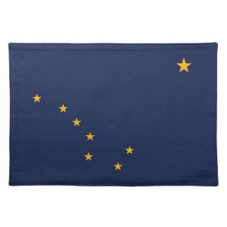 Americano MoJo Placemat de la bandera de Alaska Manteles
