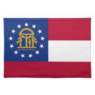 Americano MoJo Placemat de la bandera de Georgia Manteles Individuales
