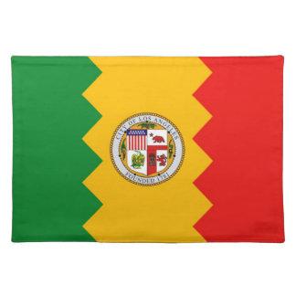 Americano MoJo Placemat de la bandera de Los Ángel Manteles