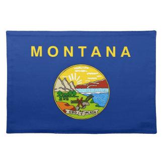 Americano MoJo Placemat de la bandera de Montana Manteles Individuales