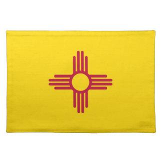 Americano MoJo Placemat de la bandera de New Méxic Manteles