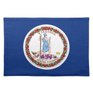 Americano MoJo Placemat de la bandera de Virginia Mantel Individual