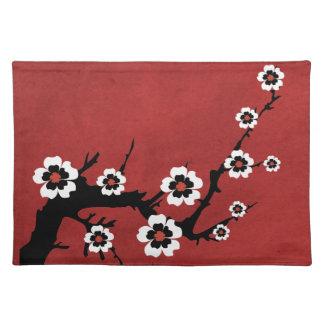 Americano MoJo Placemat de la flor de cerezo de Sa Mantel