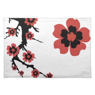 Americano MoJo Placemat de la flor de cerezo de Sa Mantel Individual