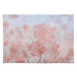 Americano MoJo Placemat de la flor de cerezo Mantel Individual