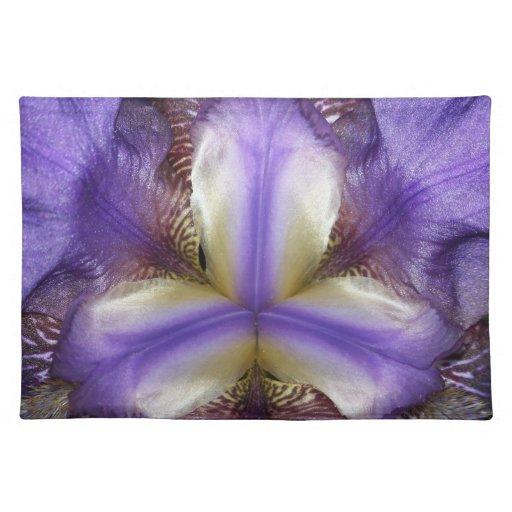 Americano MoJo Placemat de la flor del iris Mantel Individual