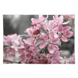 Americano MoJo Placemat de las flores de cerezo Mantel Individual