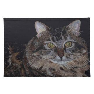 Americano MoJo Placemat del gato de Coon de Maine Mantel Individual