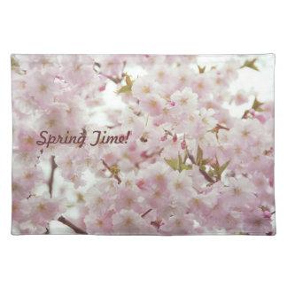 Americano MoJo Placemat del tiempo de primavera Manteles