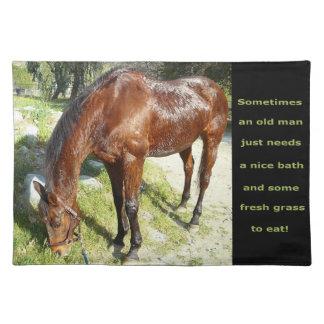 Americano MoJo Placemats del caballo del viejo hom Mantel Individual