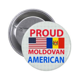 Americano moldavo orgulloso pin redondo 5 cm