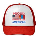 Americano mongol orgulloso gorros bordados