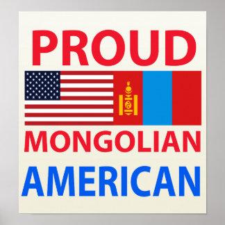 Americano mongol orgulloso poster