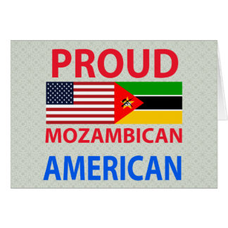 Americano mozambiqueño orgulloso tarjeta de felicitación