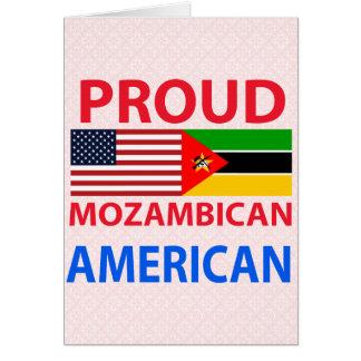 Americano mozambiqueño orgulloso felicitaciones