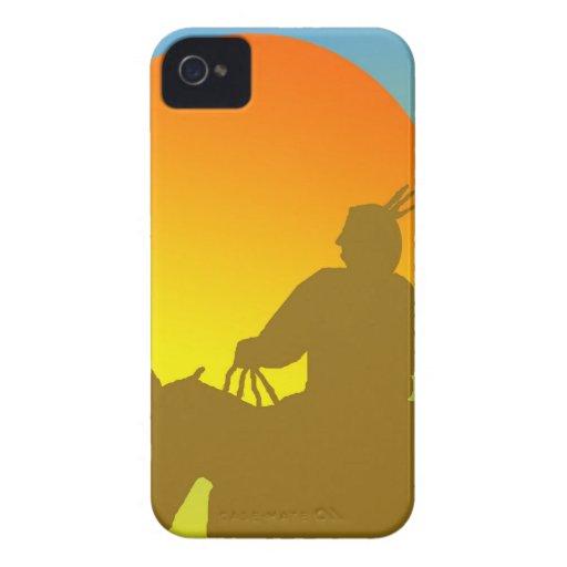 Americano nativo de la puesta del sol Case-Mate iPhone 4 fundas