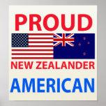 Americano neozelandés orgulloso impresiones