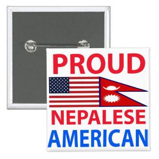 Americano nepalés orgulloso pin